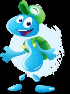 Zdrojek - postać stworzona przez Żywiec Zdrój zachęcająca dzieci do picia wody
