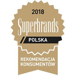 Wyróżnienie Superbrands Polska 2018 dla Żywiec Zdrój będące rekomendacją konsumentów