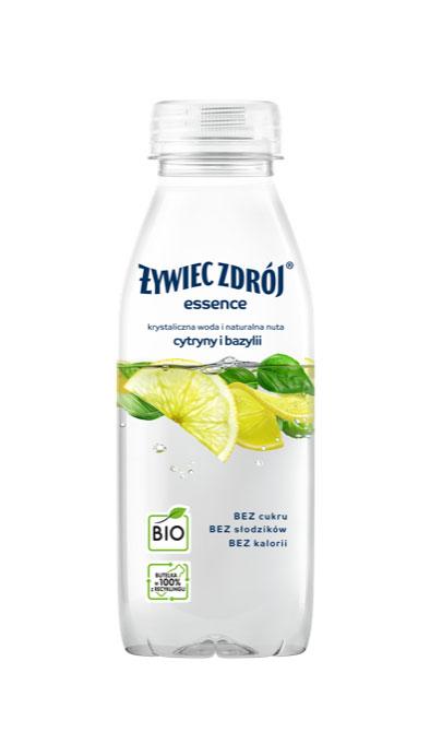 Woda Żywiec Zdrój z cytryną i bazylią bez cukru, słodzików i kalorii, mała butelka