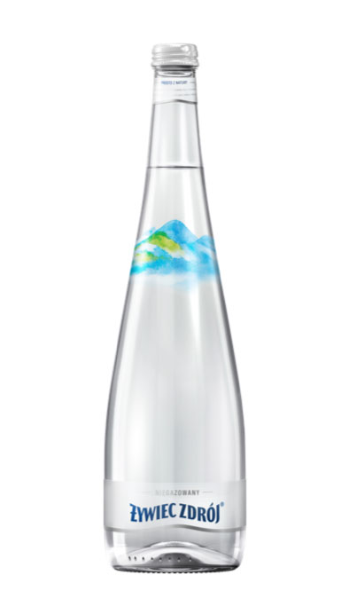 Woda Żywiec Zdrój niegazowana w dużej szklanej butelce