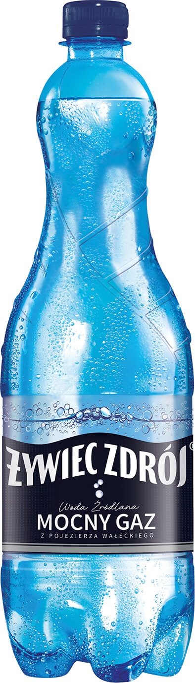 Woda Żywiec Zdrój mocno gazowana, litrowa butelka
