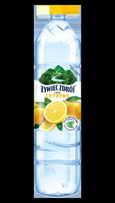 Woda Żywiec Zdrój z nutą cytryny bez konserwantów, duża butelka