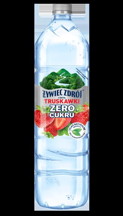 Woda Żywiec Zdrój smakowa z nutą truskawki bez cukru, duża butelka